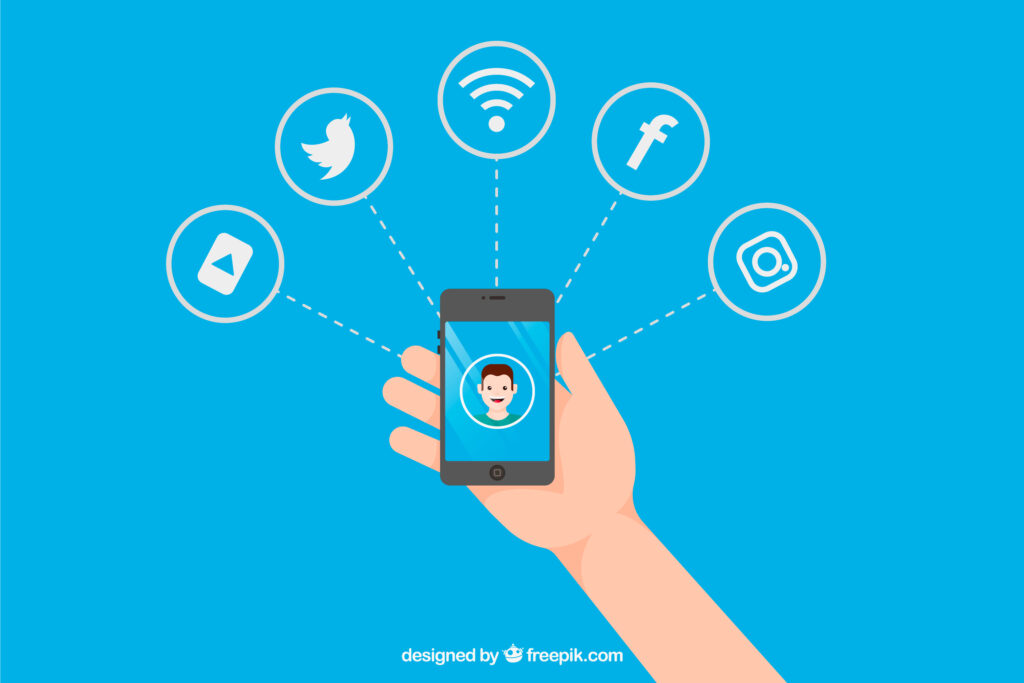 vídeos nas redes sociais